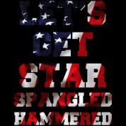 Let's Get Star Spangled Hammered Flag Design