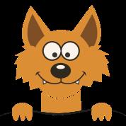 Funny cute Fox