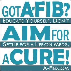 aim for a cure don t settle blue