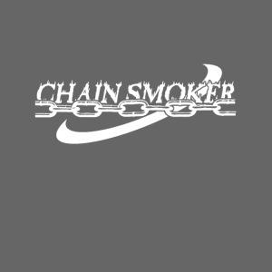 Chain Smoker Disc Golf White Print