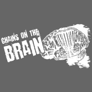 Chains on the Brain Disc Golf White Print