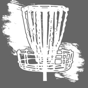 Disc Golf Basket White Print