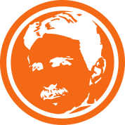 Nikola Tesla - negative portrait