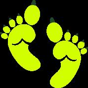Single set of green OGRE feet toes Halloween