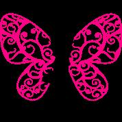 Yoga pixie, butterfly wings, fairy, asana, teacher