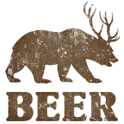 Vintage Bear+Deer=Beer