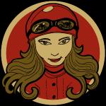 Sneeky Motorcycle Woman