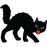 Black Halloween Cat