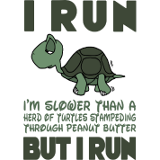 I Run. I'm slower than a turtle but I Run
