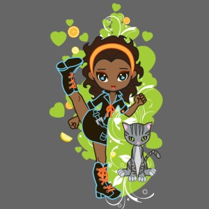 Aisha the African American Chibi Girl