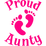 proud Aunty with cute maternity baby feet