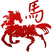 Abstract Chinese Zodiac Year of The Horse