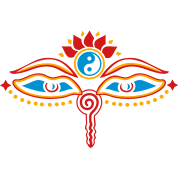 Buddha Eyes Lotus, Yin Yang, wisdom, enlightenment