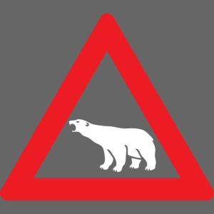 Polar Bear Road Sign