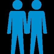 Men Couples Toilet Sign