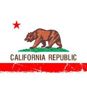 california Vintage Flag