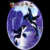Orca Christmas Oval