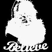 Santa Claus Believe Monochrome