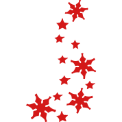 stars & snowflakes winter season decoration