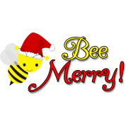 Bee Merry Cute Bumblebee with Santa Hat Buttons Holiday/Christmas ...