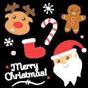 Cute Christmas with Santa and Reindeer