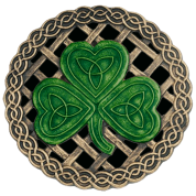 Black Celtic Knots And Shamrock