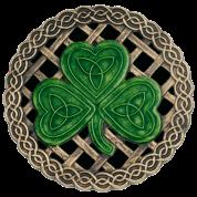 Black Celtic Knots And Shamrock