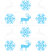 Deers and snowflakes