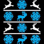 Deers and snowflakes