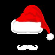 Santa Hat and Mustache