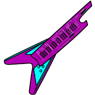 Design ~ Flying V Keytar - Persephone Productions