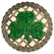 Beige Celtic Knots And Shamrock