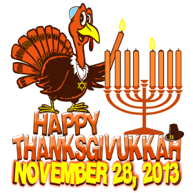 Commemorative Thanksgivukkah Thanksgiving Hanukkah