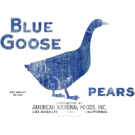 Design ~ Blue Goose Pears Vintage Artwork