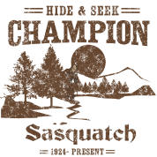 Hide and Seek Champion. Sasquatch