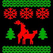 christmas reindeer make love knit