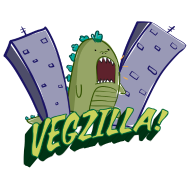 Design ~ Vegzilla Logo (Cool Gray)