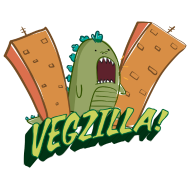 Design ~ Vegzilla Logo (Orange)