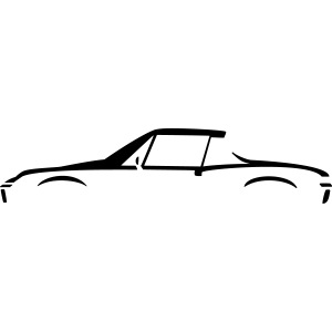 Sportscar Profile (for dark colored shirts)