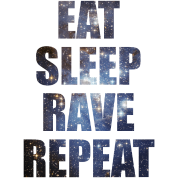 Eat Sleep Rave Repeat EDM Stars Design