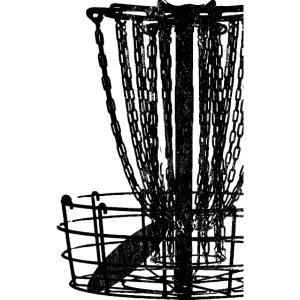 Distressed Disc Golf Basket Shirt Black Print