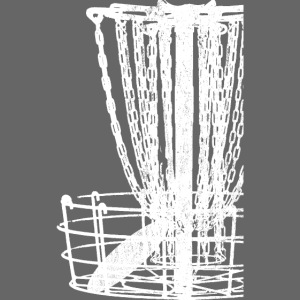 Disc Golf Basket Shirt Distressed White Print
