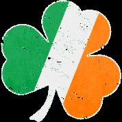 Vintage Distressed Irish Flag Shamrock