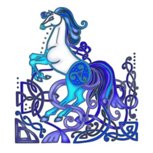 Celtic Horse Silver Blue
