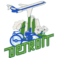 Design ~ Vintage Detroit Airline Poster Clothing Apparel