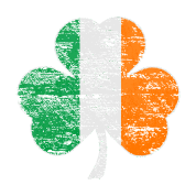 Vintage Distressed Irish Flag Shamrock