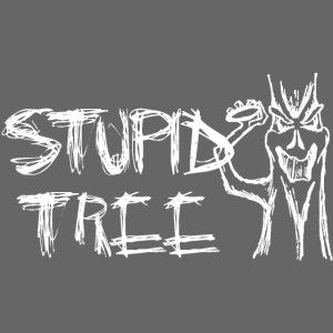 Stupid Tree Disc Golf Shirt White Print