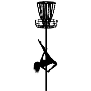 Disc Golf Diva Pole Dancer Black Print