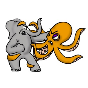 Elephant vs. Octopus T-Shirt