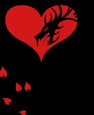 Tattoo Fire Love Dragon Through The Heart Valentine Lovers Hearts 2c Design  Womenu0027s T Shirt